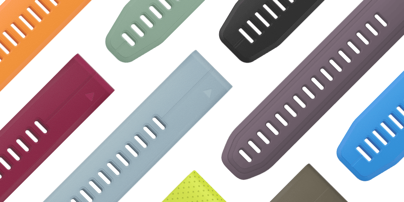 QuickFit accessory bands let you match your style with no tools required.