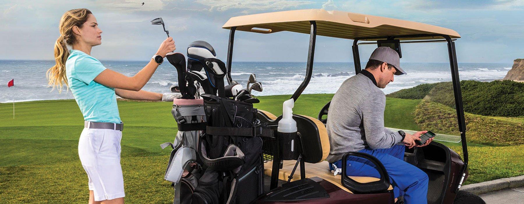Garmin Golf™ App - A man and woman golfing