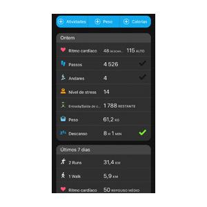 Aplicação Garmin Connect 9