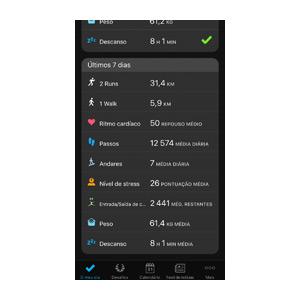 Aplicação Garmin Connect 10