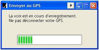 Zend de stem in uw GPS