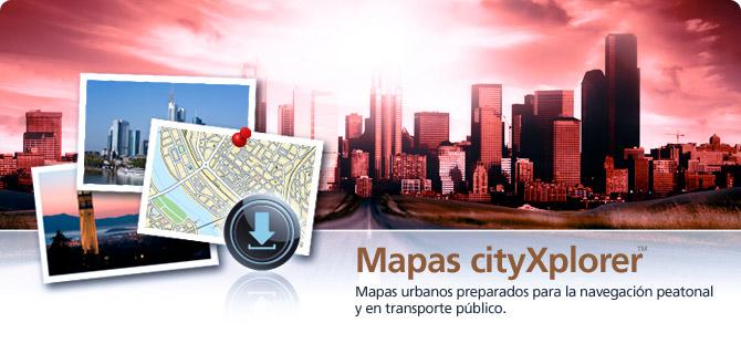 Mapas cityXplorer™-Mapas GPS Garmin