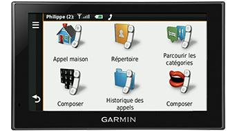 menu téléphone
