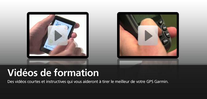 Vidéos de formation, des vidéos courtes et instructives qui vous aideront à tirer le meilleur de votre GPS Garmin.