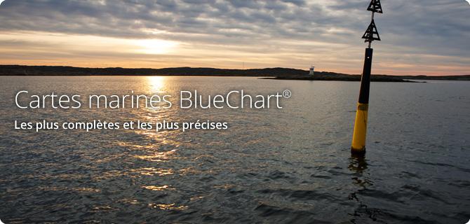 Cartes marines BlueChart®. Les plus complètes et les plus précises.