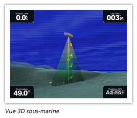 Vue 3D sous-marine