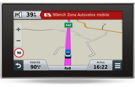 Garmin Avviso Zona Autovelox Mobile