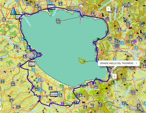 Screenshot Garmin TrekMap Italia