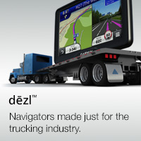 Garmin dezl truck / lorry sat nav with large navigation screen