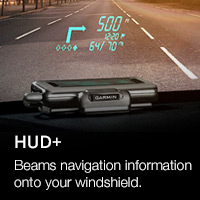 Garmin Heads-Up-Display which projects navigation onto car windsceen