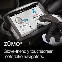Garmin zumo glove-friendly motorbike sat nav series