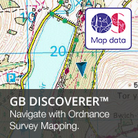 Navigate with Garmin GB Discoverer Ordnance Survey Mapping  on your Garmin GPS