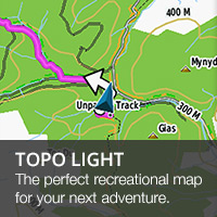 TOPO UK & Ireland Light provides the perfect recreational map for an overview of your next adventure
