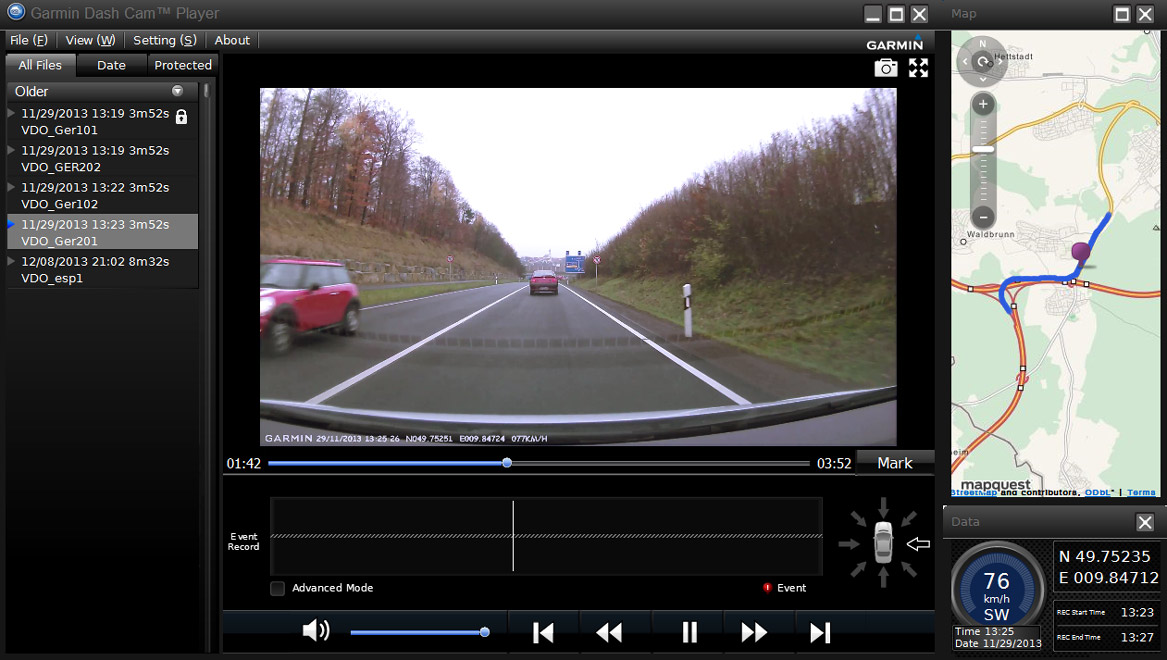 Dash Cam Player Screenshot